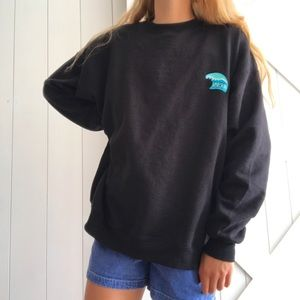 BLACK SURF CREWNECK